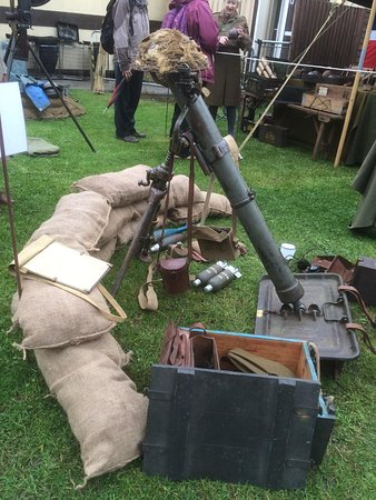 Wallingford, UK: mortar display during 1940's Nostalgia weekend