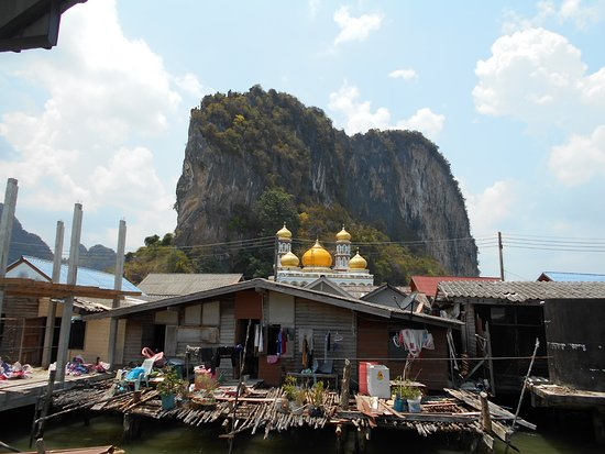 Футбольное поле на сваях. - Picture of Koh Panyi (Floating Muslim Village), K...