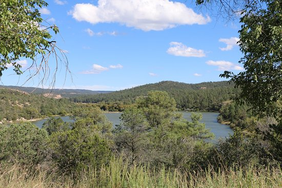 Silver City, NM: Overlooking the lake from NM35