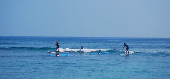Korolevu, Fiji: Catching some waves with the instructors.