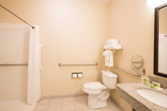 West Middlesex, PA: Deluxe room with roll-in shower.