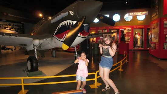 Pooler, GA: My favorite, the P-40 with my niece & daughter.