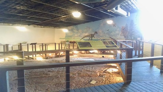 St. George Dinosaur Discovery Site at Johnson Farm: Built over site