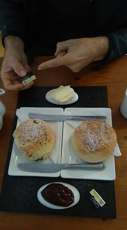 Callington, UK: My boyfriend is pointing to the butter to give an idea of scale!