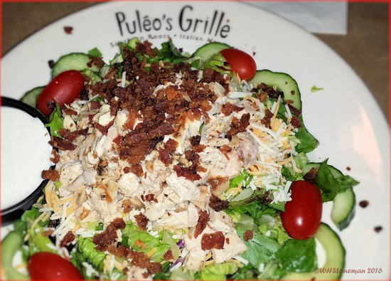 Puleo's Grille: Chopped Chicken Salad with Bleu Cheese Dressing
