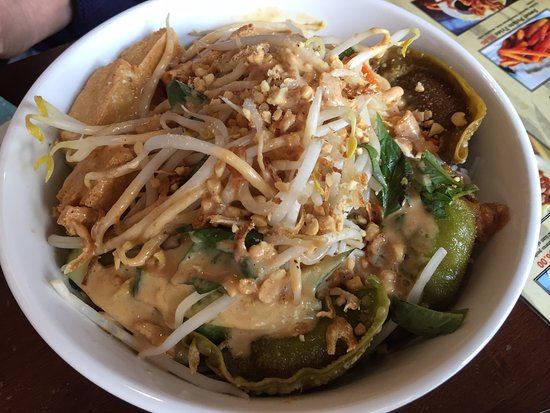 Issei Noodle: Good Asian salad with terrible over-fried gyoza