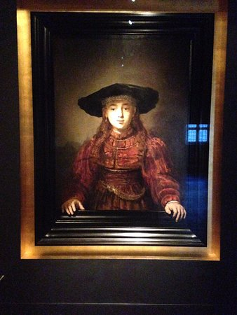 Rembrandt 1641 At Royal Castle Girl In A Picture Frame Foto Van
