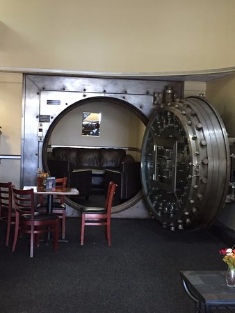 Sanford, ME: The Vault of the bank - a nice sitting area