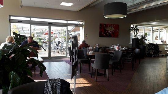 Stokesley, UK : exit to outside garden center