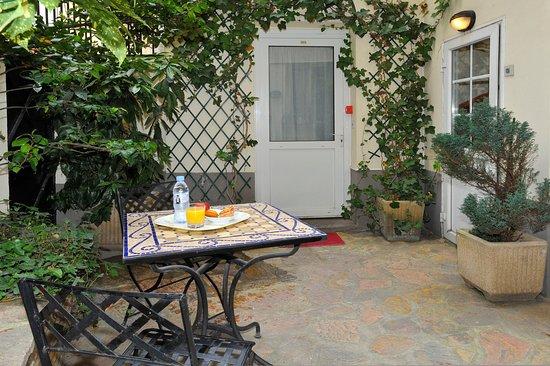 Hotel Carladez Cambronne: Courtyard
