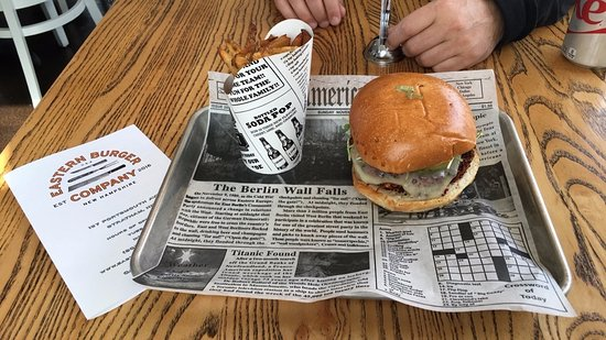 Stratham, NH: Veggie Burger & Fries