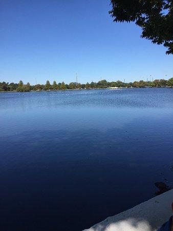 Babylon, NY: View across the lake.