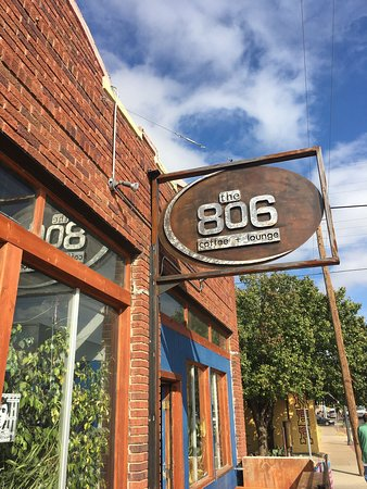 The 806: Cool little coffee place.