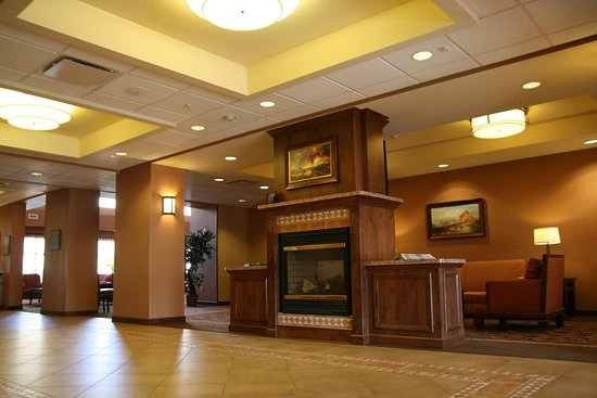 Green River, WY: Lobby Fireplace