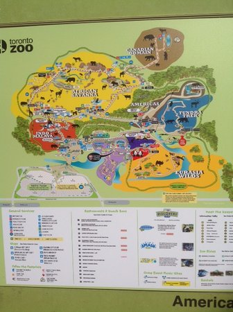 Zoo Map Picture of Toronto Zoo Toronto TripAdvisor