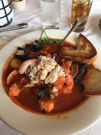 Cioppino is the way to go!