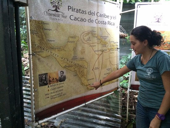 La Garita, คอสตาริกา: Guide Jessica showing us where cacao comes from