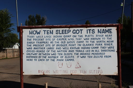 Ten Sleep, WY: Little info of the town.