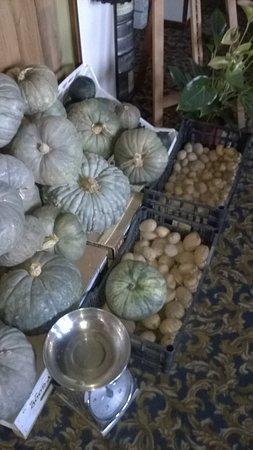 Torre d'Isola, Italia: zucche e patate in vendita