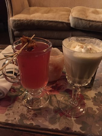 Whitefish, MT: mulled spiced rum and some kind of a creamy rum drink.. so good