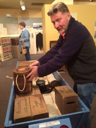 Bayard, NE: The author trying to load his wagon correctly. ( HE FAILED )