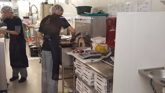 Chocolates being made at the Devonport Chocolate factory
