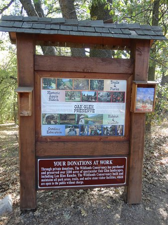 Oak Glen info board