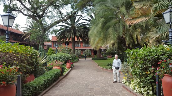 Fairmont The Norfolk: This is the central courtyard which is a quiet oasis in bustling Nairobi