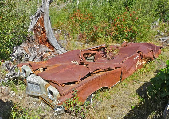 Amboy, WA: The car was parked here while the man and his wife attended a meeting not far away. Not in bad s