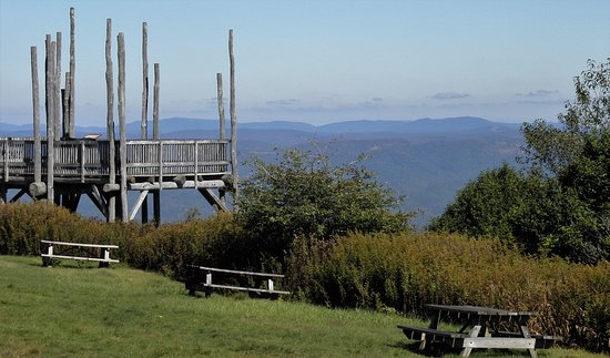 bald knob top of the mountain picnic area observation deck