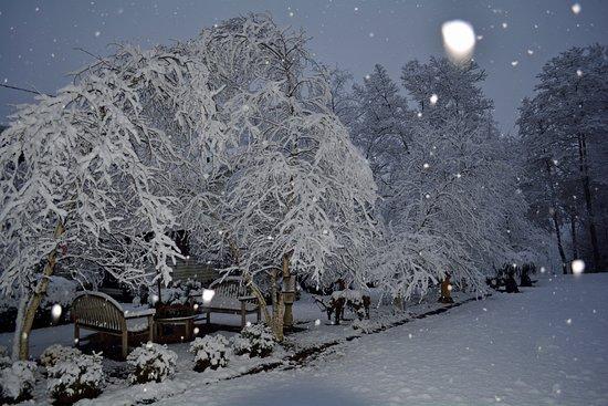 Granville, OH: Beautiful winter snowfall at The Inn.