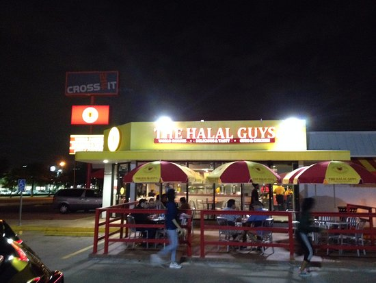 Halal Guys Sign Looking Towards The East Picture Of The