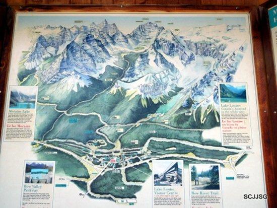 Banff National Park Map de Banff National Park Parc