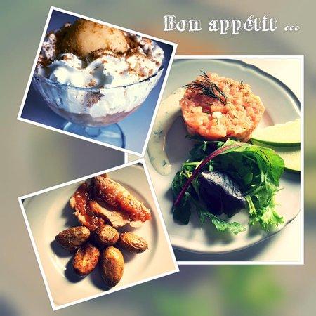 Nivillac, Frankrike: Un exemple de menu
