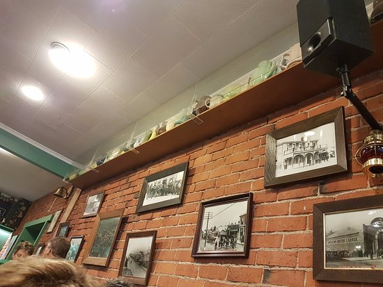 "Temuka, New Zealand: Interesting ""pots"" and photos on the walls."