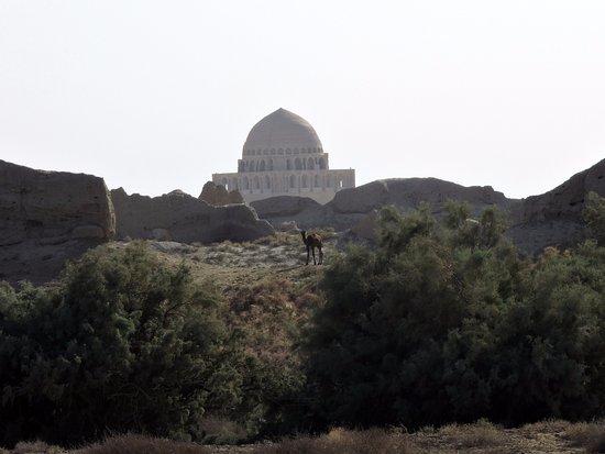 Ancient Merv: View of Mausoleum of Sultan Sanjar