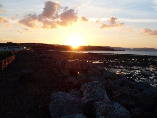 Sun setting over Watchet