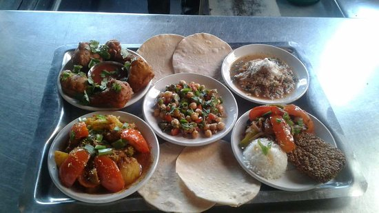 """Stupa View Restaurant & Cafe : Our Vegan house special """"The Vegans Delight""""."""