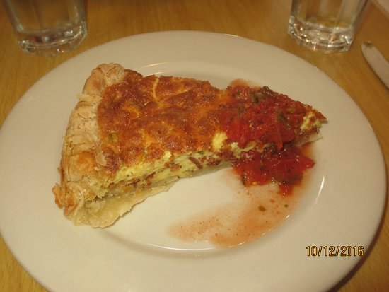 Cafe 56: bacon and onion quiche