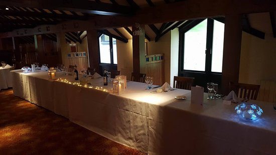Top Table set up at the Cultra Inn & Top Table set up at the Cultra Inn - Picture of Cultra Inn Holywood ...
