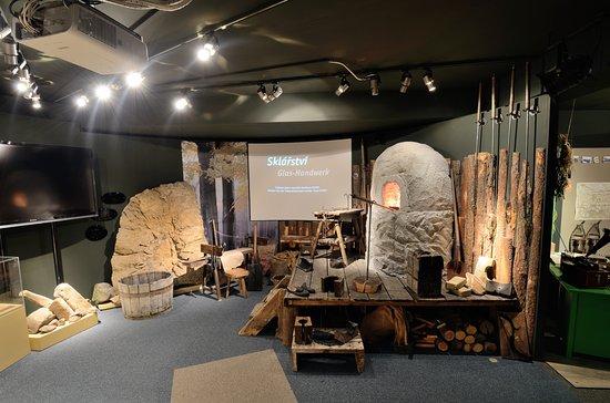 Dům Českého Švýcarska: Glassmaking exposition