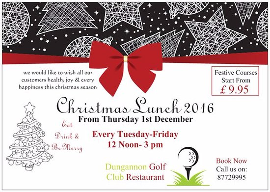 dungannon golf club bar and restaurant christmas lunch 2016
