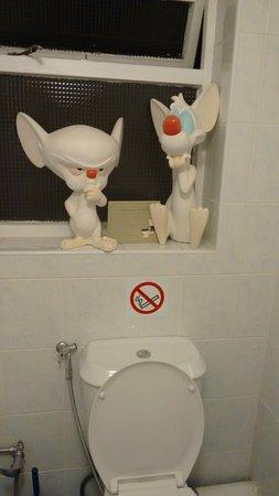 Shared bathroom humor