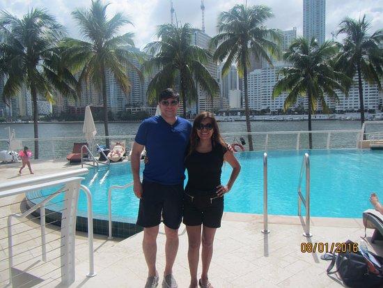 Mandarin Oriental, Miami: Antes de disfrutar de la piscina.