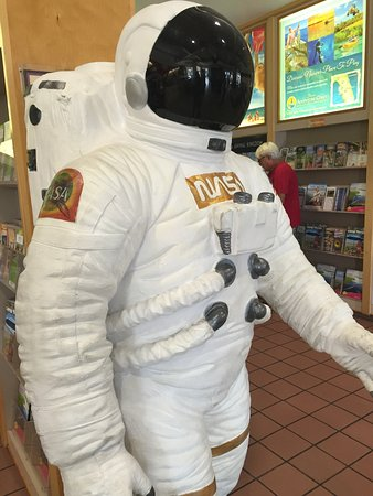 Yulee, FL: NASA statue at welcome center