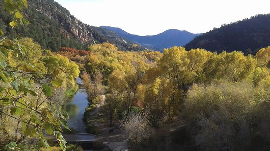 Rifle, CO: You can hike around and above the falls and this is the view in fall!