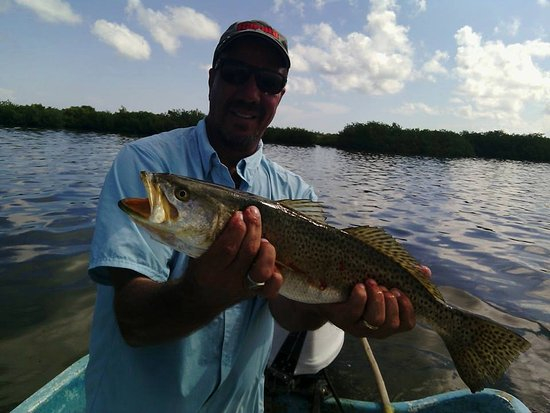 Chuburna, Meksika: We get some really big speckled sea trout here in the Ria
