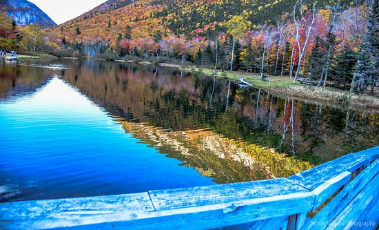 Hart's Location, Νιού Χάμσαϊρ: Willey Pond, Crawford Notch State Park, NH...