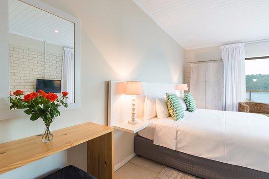 Wilderness, Sudáfrica: Bedroom Kingfisher suite