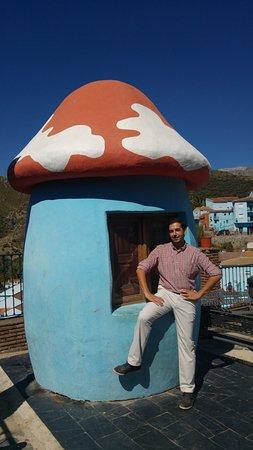Juzcar, Spanien: En la seta de los pitufos